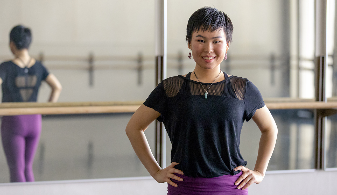 Kyki Li in a UW dance studio