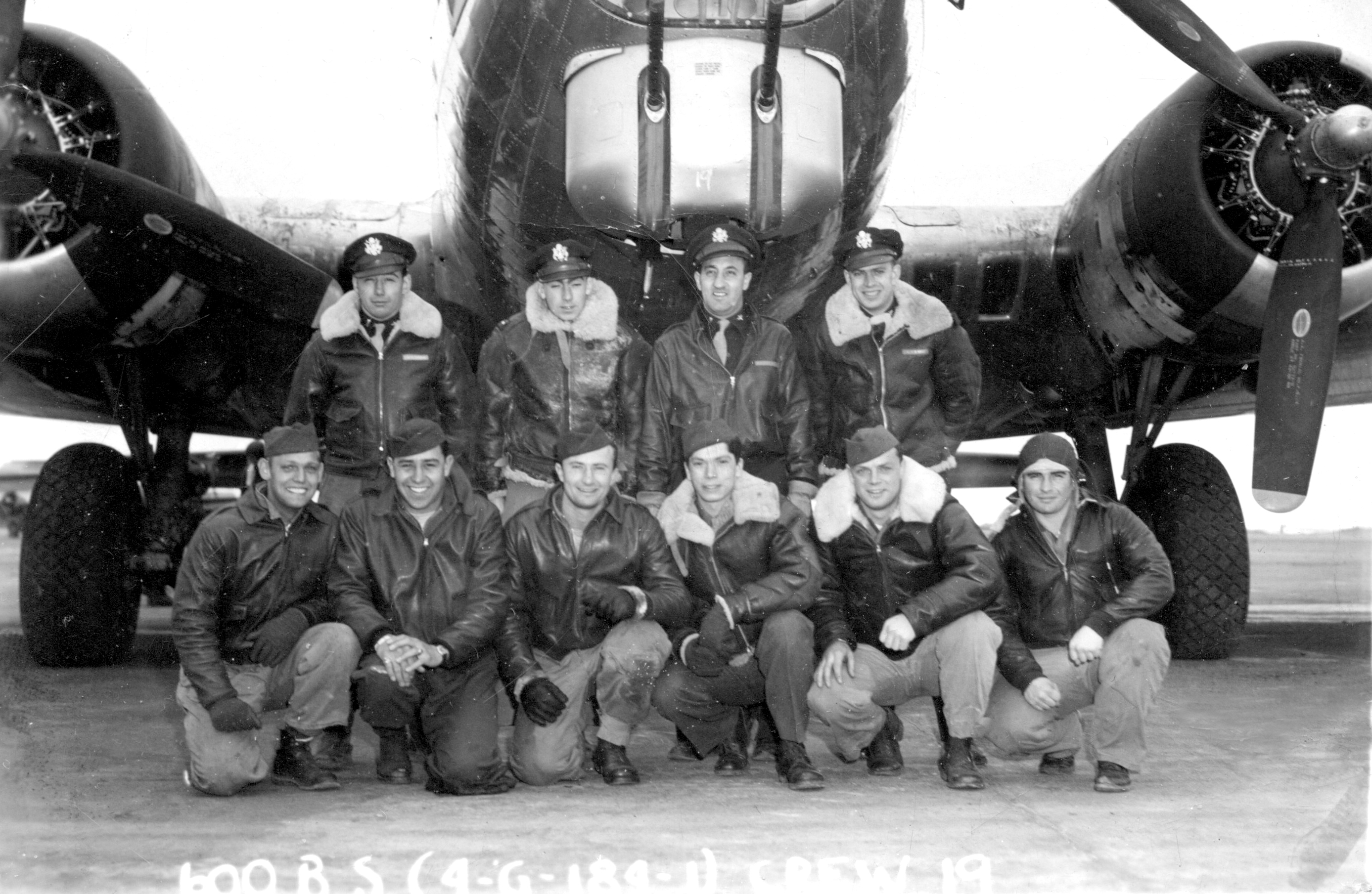 Ike Alhadeff with the 600th Squadron in 1944.