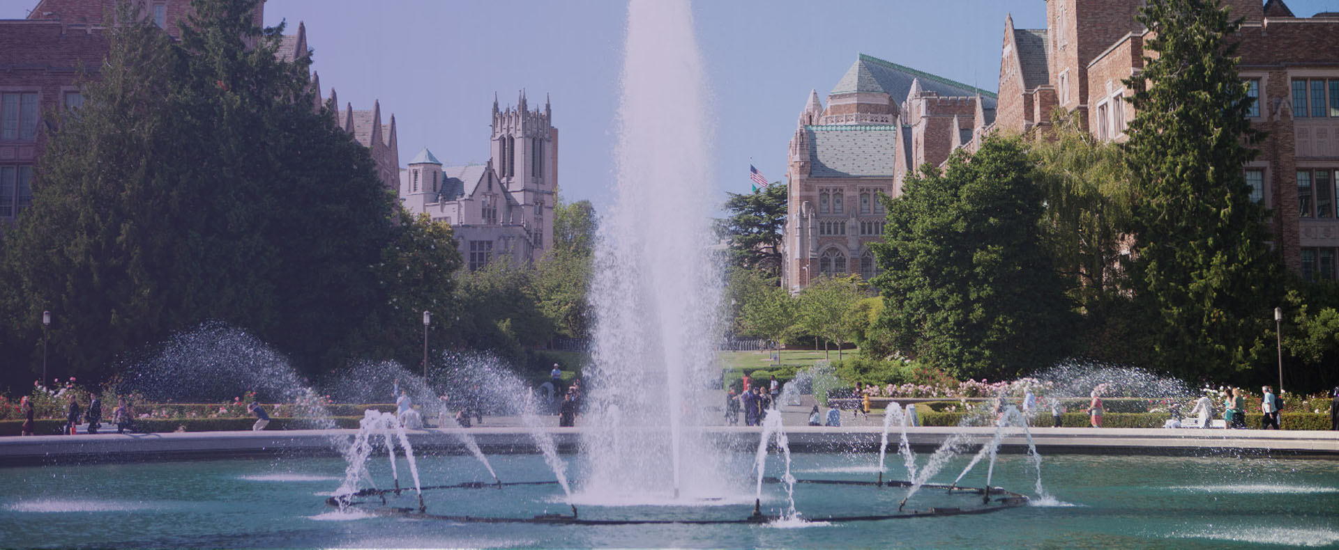 Drumheller Fountain on University of Washington Campus