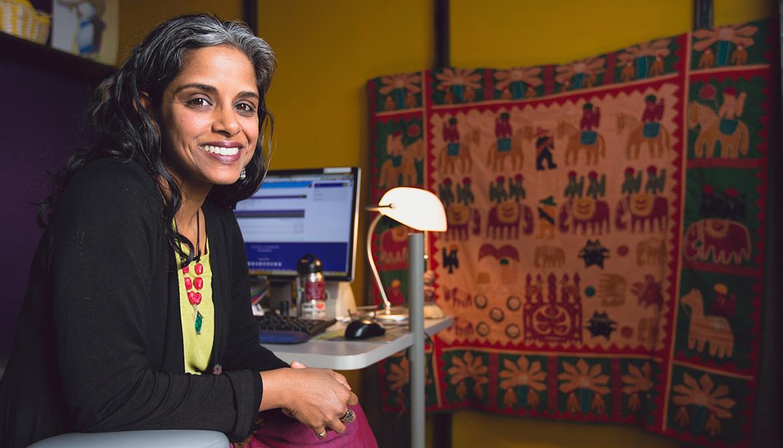 Anu Taranath in her office.