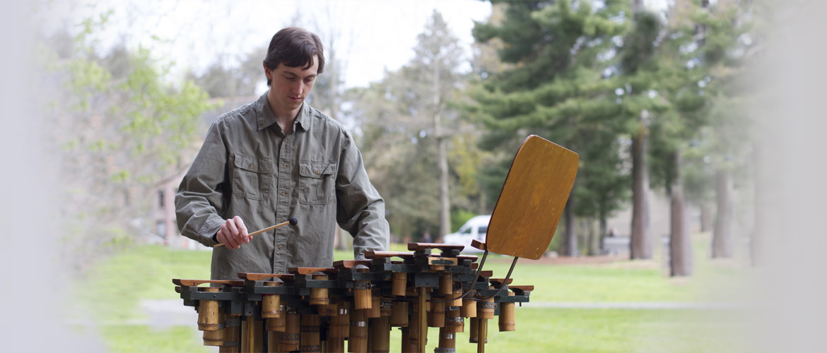 Chuck Corey playing Harry Partch's Diamond Marimba.