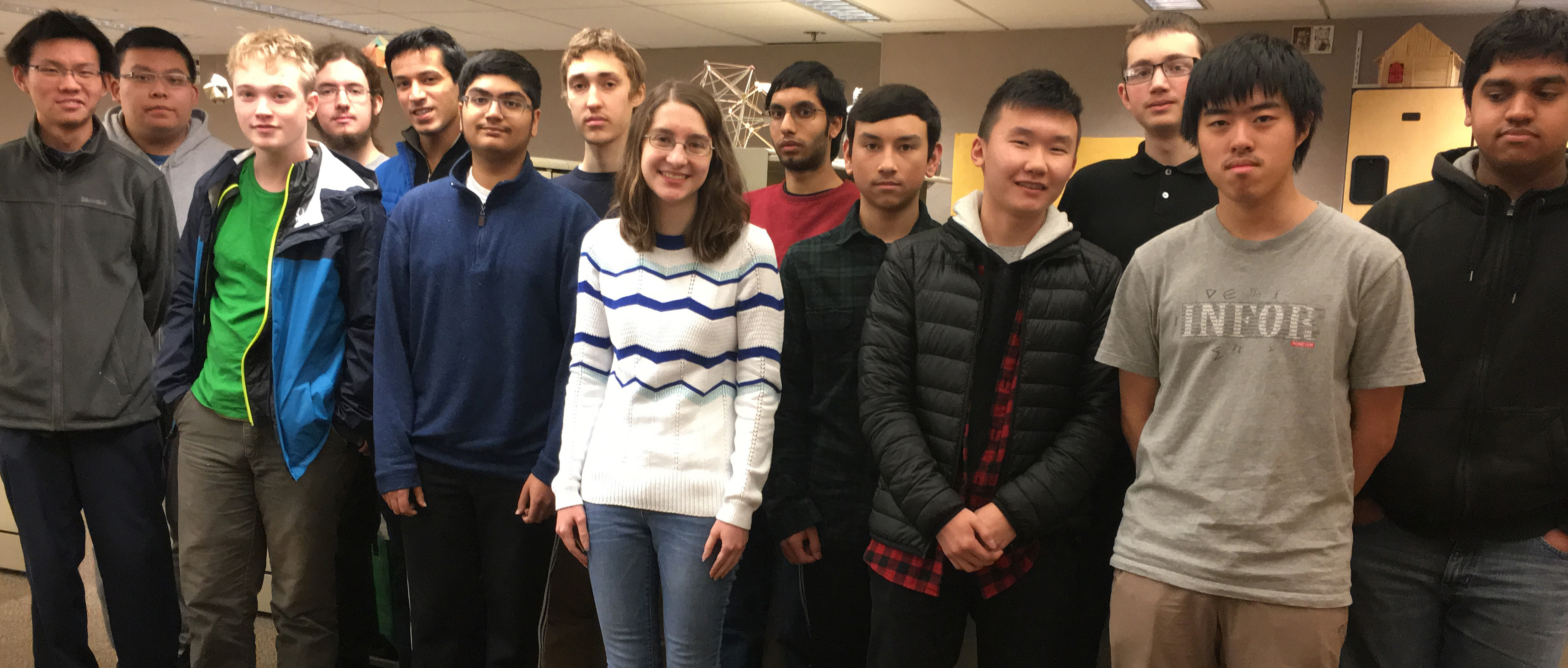 UW students participating in the 2017 Putnam Mathematical Competition