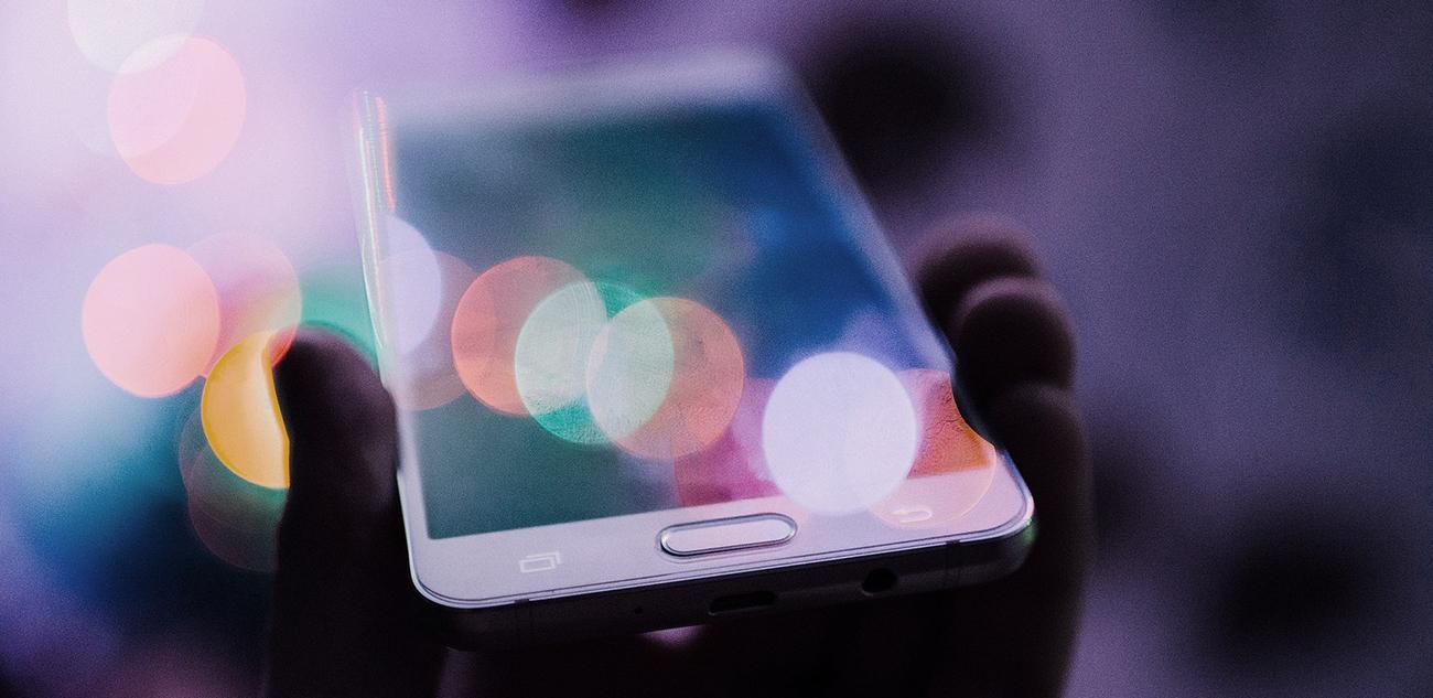 closeup of a cellphone