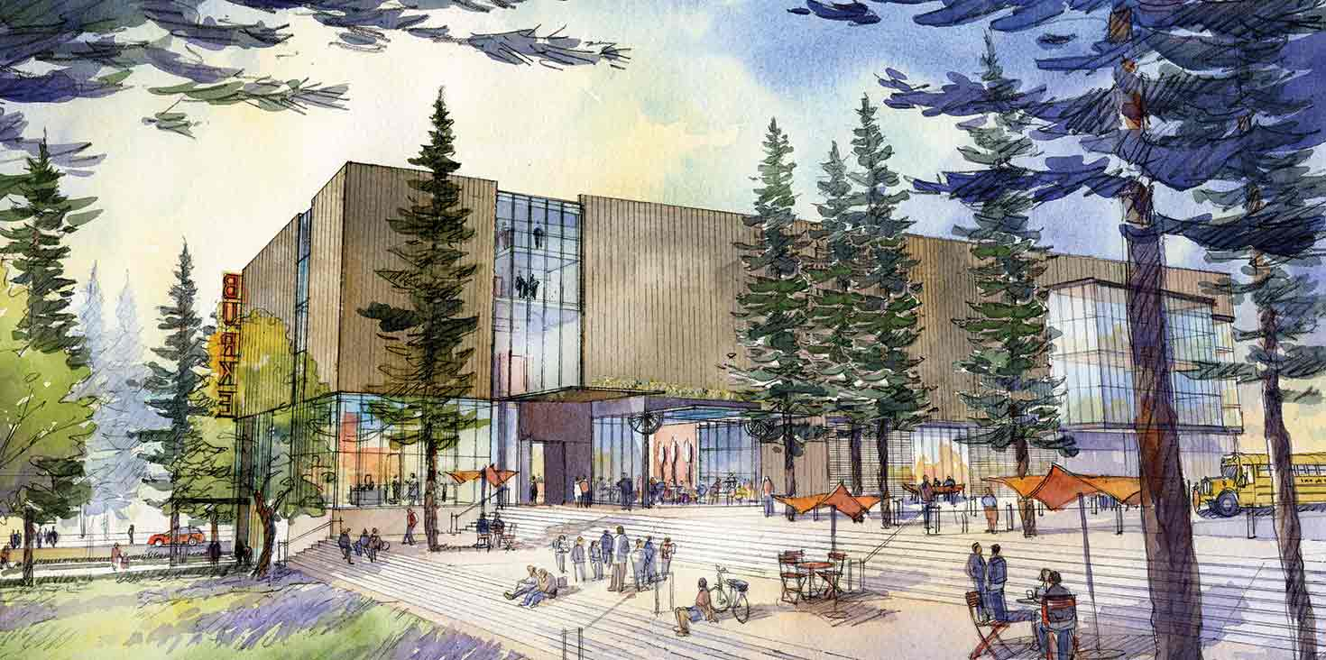 Architect's rendition of the new Burke Museum
