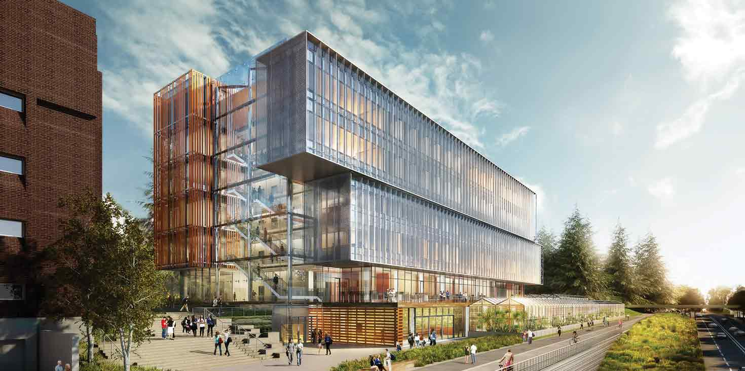 Architect's rendition of Life Sciences Complex