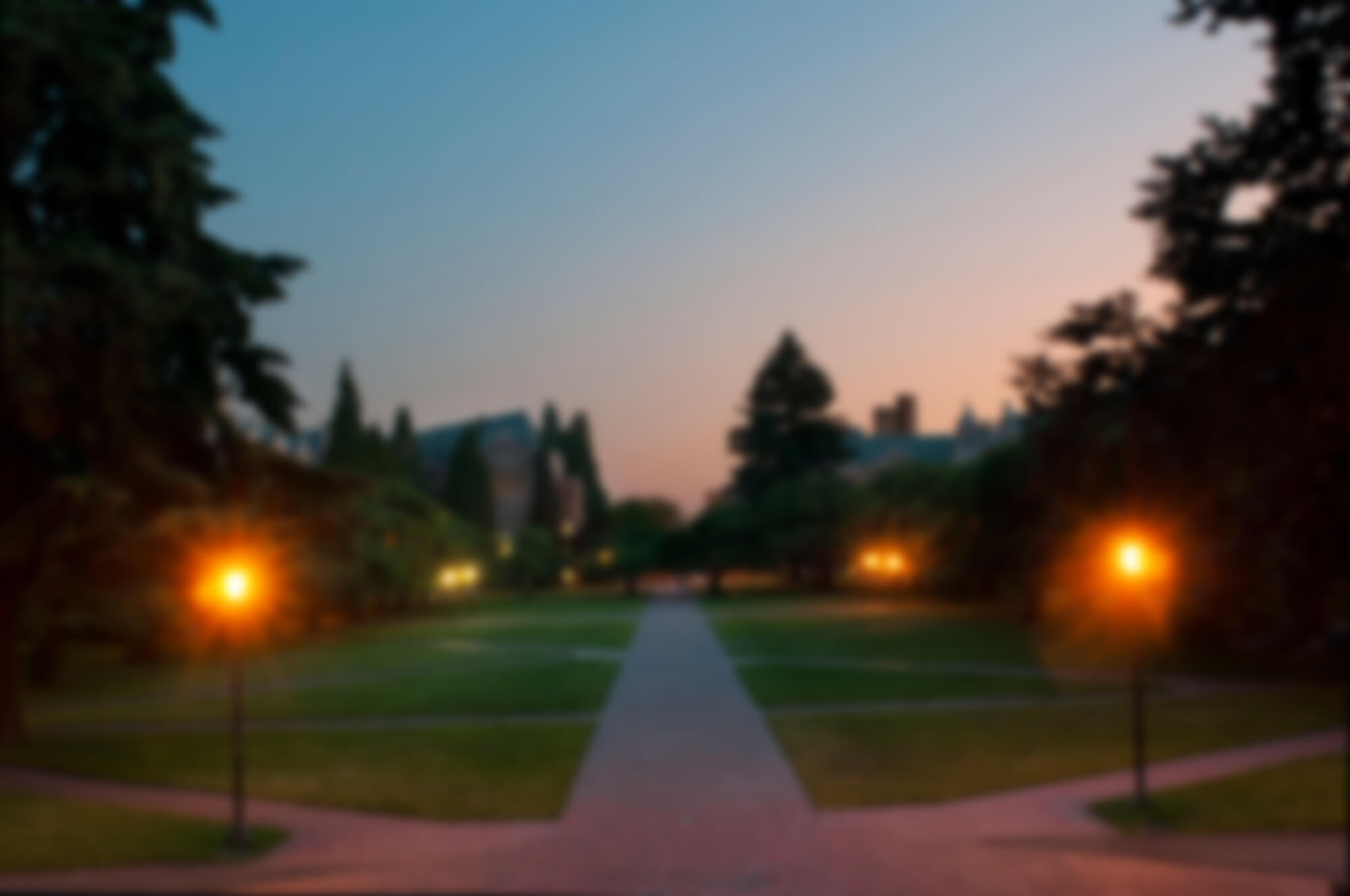 UW Liberal Arts Quad at sunset
